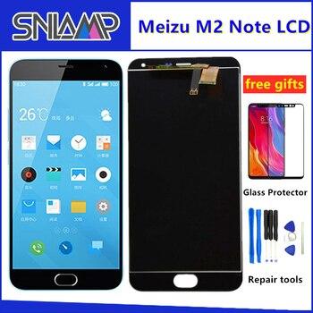 SNLAMP IPS lcd ekran Meizu M2 Not 5.5 inç dokunmatik ekranlı sayısallaştırıcı grup 1920*1080 Çerçeve Ile Ücretsiz Cam filmi Araçları Cep Telefonu LCD'leri    -
