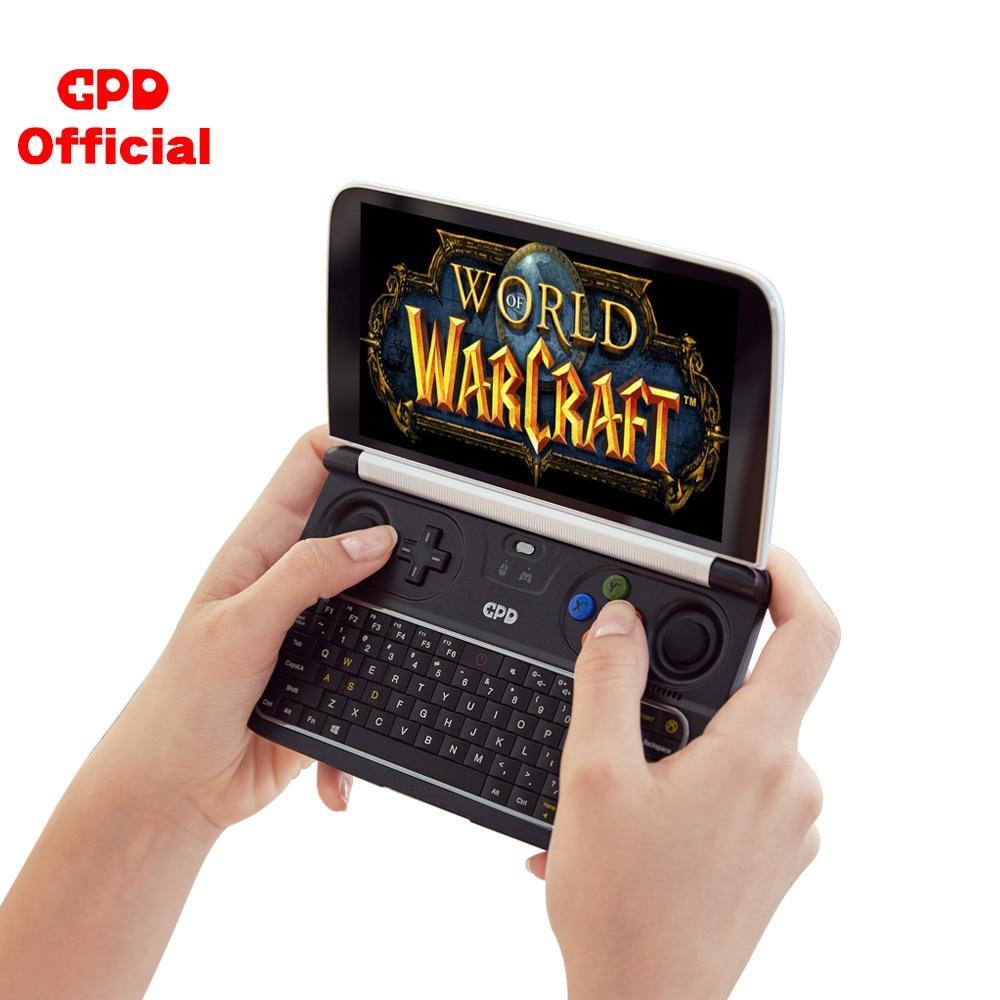 Gpd win 2 gaming portátil 8 gb rom 256 gb ram mini computador portátil netbook 6 Polegada intel core M3-8100Y ips tela de toque windows 10