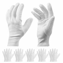 JYTOP White Cotton Gloves - 9.8'' L Work Gloves Cosmetic Moisturizing Gloves