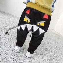 Повседневные детские штаны для маленьких мальчиков и девочек, милые штаны Монстр Костюмы, длинные детские трусики с мультипликационным рисунком