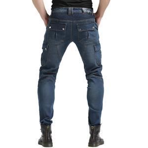 2019 кевлар мужские мотоциклетные джинсы для езды, байкерские штаны, джинсы для мотокросса, с 4 X обновлением, CE, защитные наколенники, синие S-3XL