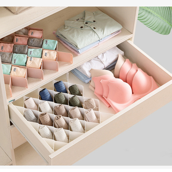Multifunctional Storage Box Creative Drawer Divider Underwear Socks Storage Box Plastic Closet Organizer Jewelry Storage Cabinet 5 cells plastic organizer storage box tie bra socks drawer cosmetic divider w617