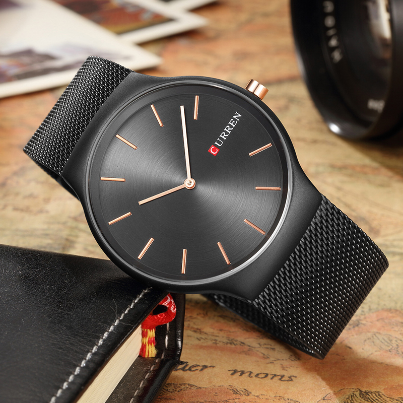 CURREN 8256 Watches men luxury brand Watchquartz sport military men steel wristwatches dive 30m Casual watch relogio masculino 1