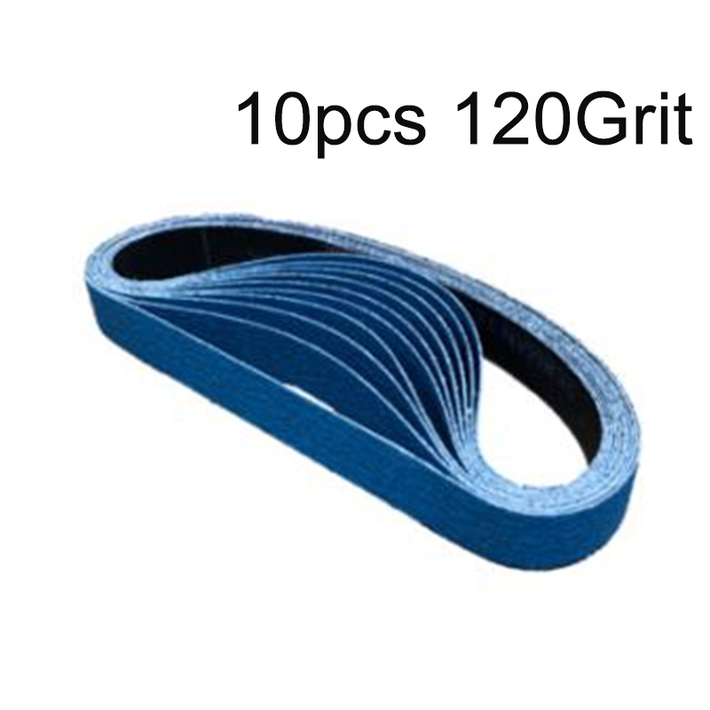 10pcs High Quality 19mm X 457mm Airconia Backing Snding Belts 40/120 Grit Durable New Hot Sale