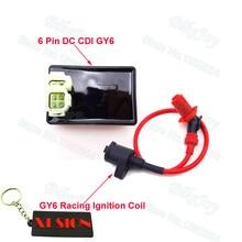 Производительность 6 Pin DC CDI Коробка гоночная Катушка зажигания для Kymco SYM Vento скутер GY6 50cc 125cc 150cc двигатель мопед