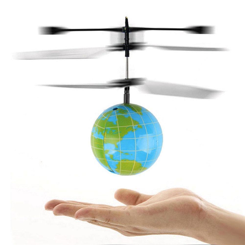 Brinquedo engraçado do helicóptero do zangão da bola do vôo do sensor de obstáculo da iluminação do diodo emissor de luz para crianças
