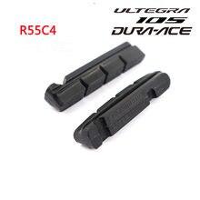 Shiman0R55C4 Dura-ace Ultegra 105 R55C4... llanta de aluminio Cartucho de bicicleta de ROAD zapatas de freno hechas de