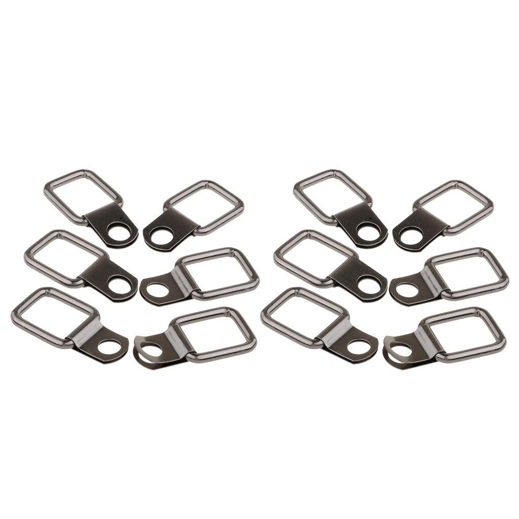 12 шт. маленький стальной d-образный крепеж для чехол грузовой автомобильный прицеп якорь Rv