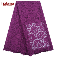Latest African Guipure Cord Lace Fabric High Quality Nigerian Water Soluble With Stones For Wedding Dress 1901