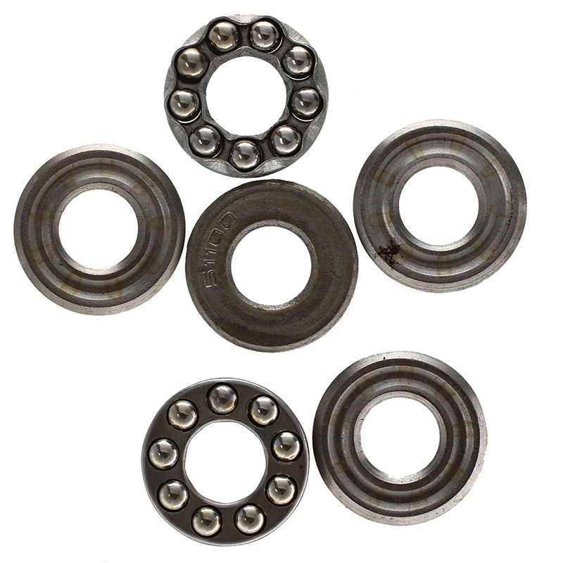 2 Pcs 10 X 24 X 9mm 51100 Single Direction Thrust Ball Bearings