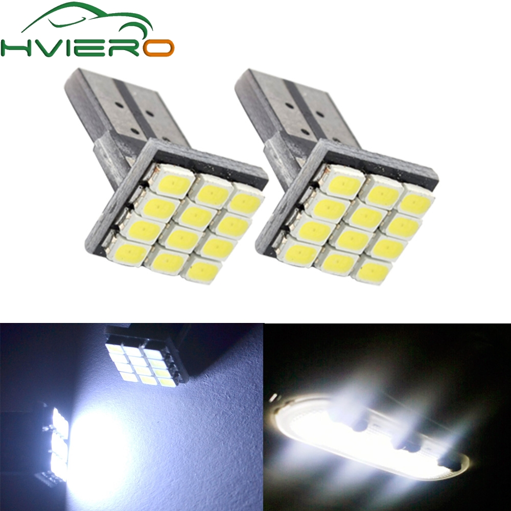 2X 194 12SMD 1206 White LED DC 12V Canbus No Error Decoder Auto External Lights License Plate Lamp Parking Rear Bulb