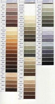 Elija su color 10 piezas, hilos de punto cruz/punto de cruz, hilo de bordar/hilos personalizados colores 04