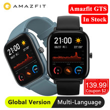 Huami Amazfit GTS النسخة العالمية ساعة ذكية لتحديد المواقع Smartwatch النوم تتبع 5ATM مقاوم للماء السباحة معدل ضربات القلب