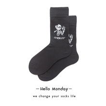 Harajuku Women Funny Socks Cotton Unisex Happy Solid Color Skeleton Pattern Ins Style Ankle Socks Original Cool Socks for Women