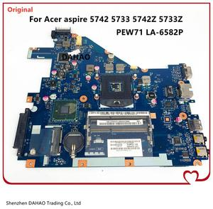PEW71 LA-6582P For Acer Aspire 5742 5742Z 5742G 5733 5733Z Laptop motherboard MBRJY02002 With HM55 UMA DDR3 100% full tested