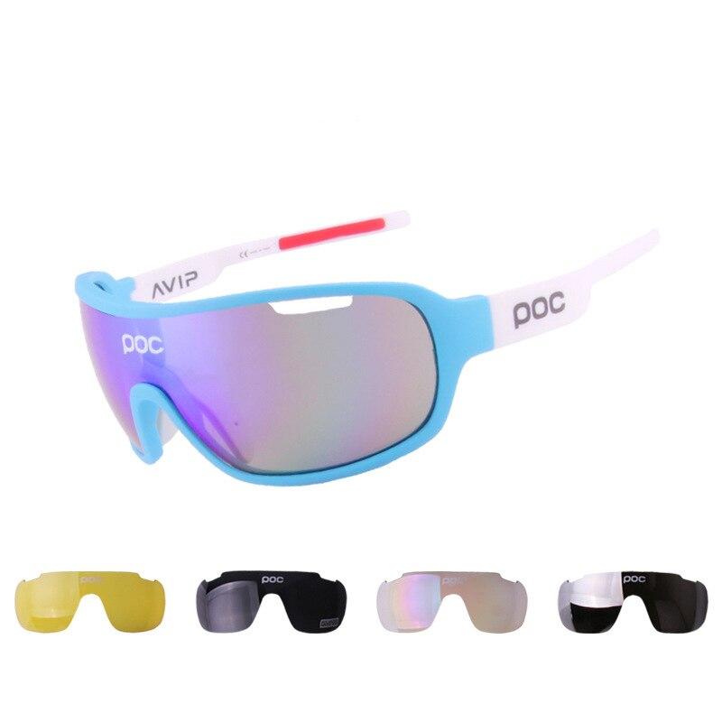 ร้อนขายPOCชายกลางแจ้งกีฬาแว่นตาPolarized Lightสำหรับขี่แว่นตากันแดดPolarizedแว่นตากีฬาขี่