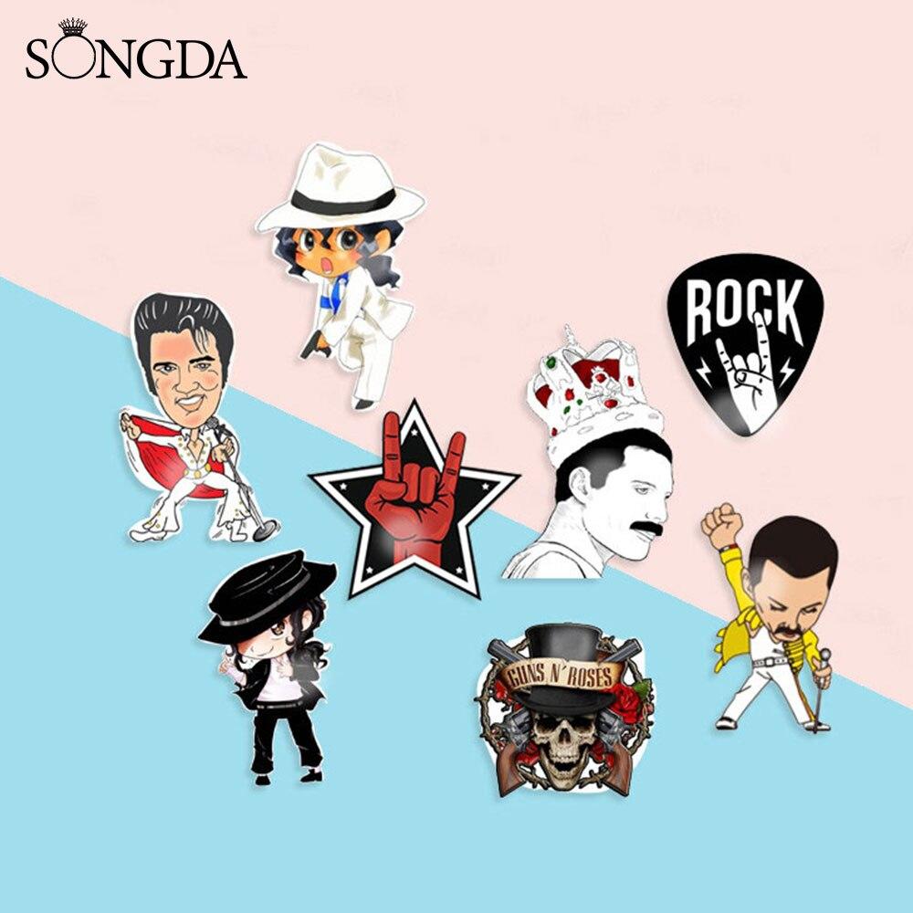Freddie Mercury с фото группы броши, булавки, акриловые булавки Elvis Queen Band, рок-певец, крутой жест, фото, значок на лацкан, значок для фанатов, подарки