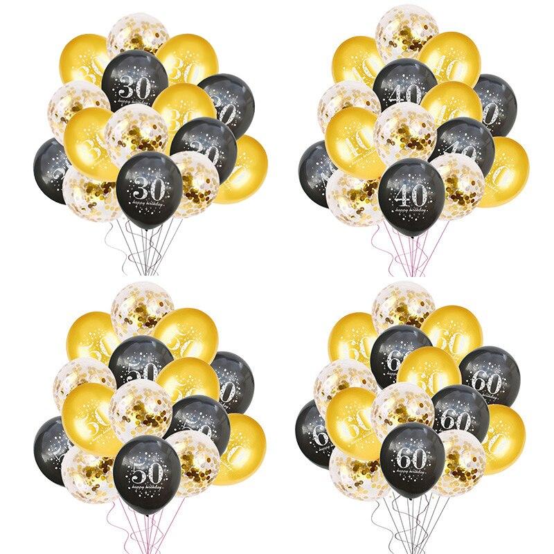 30 40 50 60 anos aniversário festa de aniversário balões 30 50 número da festa balão globos adulto festa de aniversário decoração suprimentos