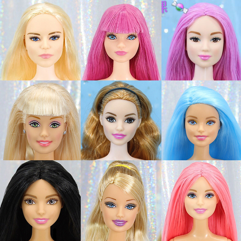 Original 1/6 Joints Move Doll Brand Naked Doll Body Variety Skin Colourful Hair Doll Head Accessories Girls Toys Birthday Boneca