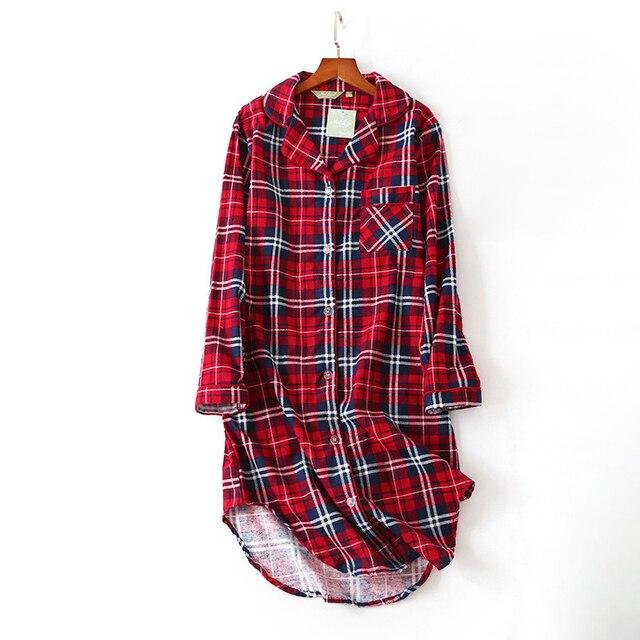 여성 나이트 셔츠 스트라이프 나이트 드레스 폴카 도트 나이트 가운 슬리핑 셔츠 슬리퍼 코튼 슬리퍼 나이트 가운 슬리퍼