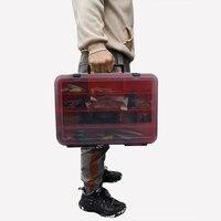 Caja multifunción de gran capacidad para aparejos de pesca, caja de almacenamiento portátil de doble capa para cebo