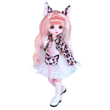 Dream Fairy 1/6 Doll Cute Makeup 28cm Ball Joint Dolls Including Clothes Shoes Princess Style BJD Dolls DIY Toy Gifts for Girls