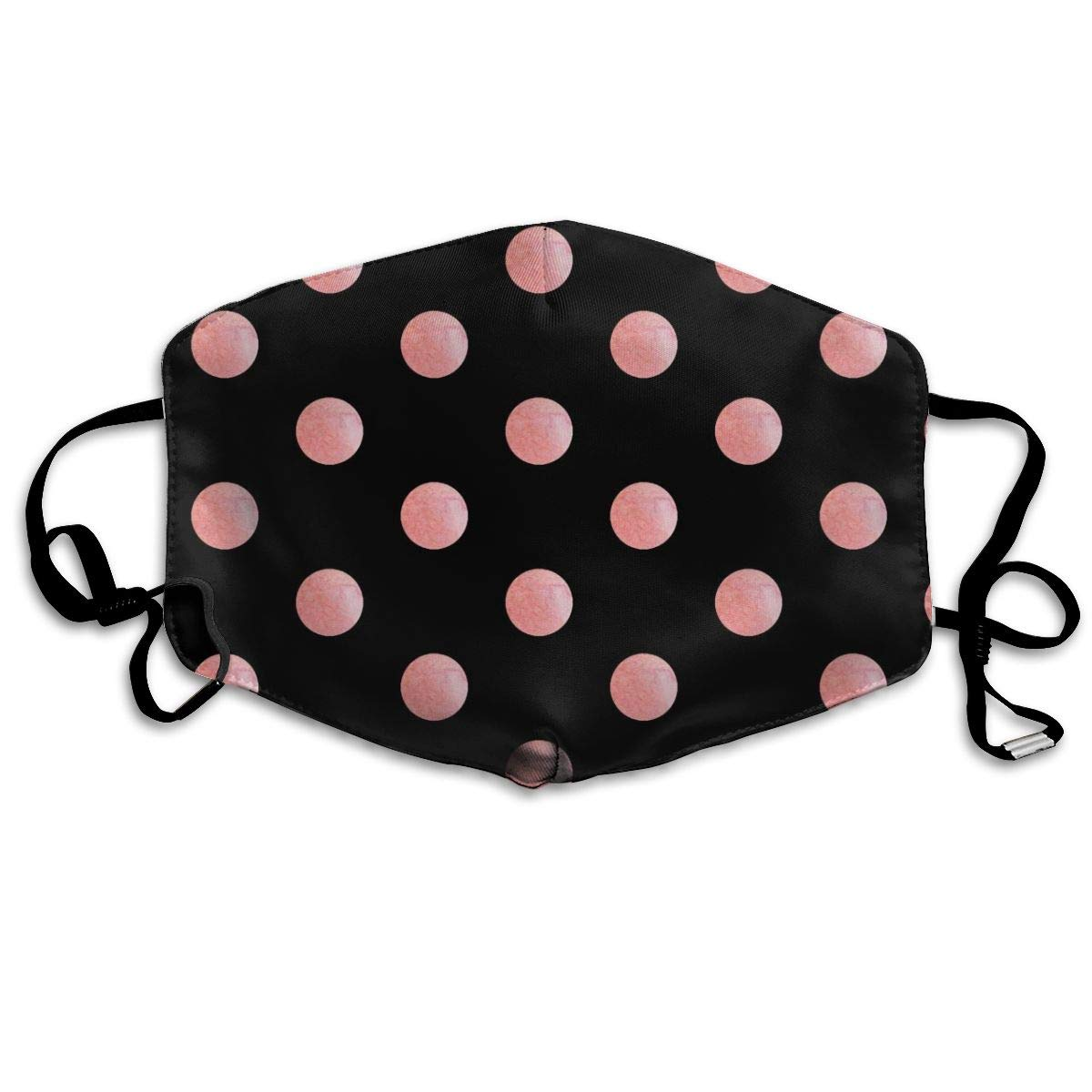 Unisex Anti-dust Face Mask Pink Black Polka Dot Mouth Mask Reusable