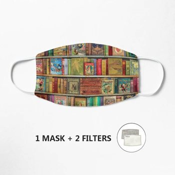 A Daydreamer's Book Shelf Mask Mask PM2.5 Breathable Face Mask Fabric Protective Mouth Cover Washable Reusable image