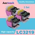 Aecteach 3 комплекта LC-3219 чернильный картридж LC 3219 XL совместимый для Brother MFC-J5930DW MFC-J6530DW MFC-J6930DW MFC-J6935DW принтер