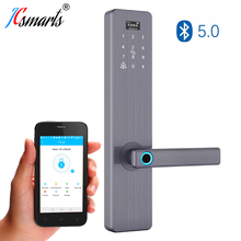 цена на Apartment Smart Biometric Fingerprint Lock,Security Intelligent Door Lock Digital APP WIFI Touch Screen Keypad Password Lock