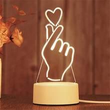3d светодиодный ночник неоновые огни креативная Светодиодная