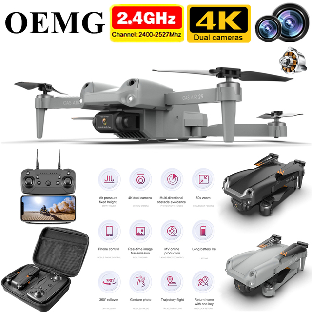 OEMG Z608 New Rc Drone 4K 1080P HD Wide Angle Camera WiFi Fpv Real-time transmission Helicopter Foldable Quadcopter Dron Toys 1