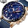 LIGE hommes montres Top marque de luxe 2