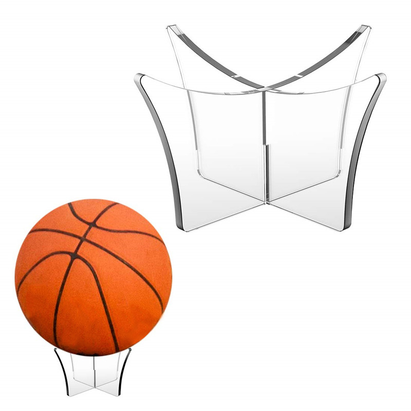 3 Pack Football Stand Holder Acrylic Ball Display Stand For Volleyball Basketball Display