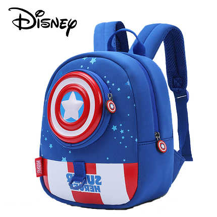 Disney Kid's Backpack Anti-lost Schoolbag for Boy Children kindergarten Bag with Detachable Walking Wings for 1-5 years Old Bag