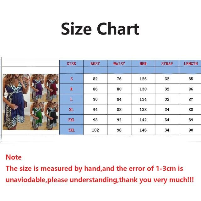 Plus Size Women dress Maternity Lady Geometry V-neck Summer Sleeveless Pregnant Mother Dresses Comfortable 4