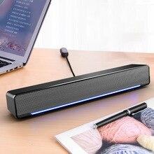 Беспроводной звуковой бар Bluetooth домашний объемный Саундбар два динамика s 3,5 AUX интерфейс динамик с дыхательный светильник ТВ домашний кинотеатр