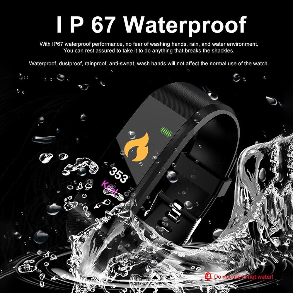 cheapest LIGE 2020 New Steel band Color Screen Smart Watch Women Men Waterproof Sport Fitness watch Heart rate and blood pressure tracker