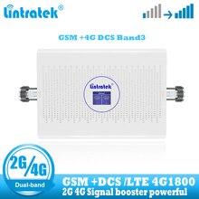Lintratek מהדר gsm 4g 900 1800 נייד סלולרי אותות בוסטרים DCS LTE תקשורת 2G קול 4G אינטרנט מגבר