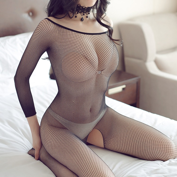 Sexy Lingerie Woman Fishnet Bodystockings Erotic Lingerie Crotchless Babydoll Hot Sex Costumes Open Crotch Full Body Pantyhose 3