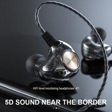 Original Fonge K1 écouteur 3.5mm Transparent dans loreille écouteurs Subwoofer stéréo basse écouteurs avec micro en cours dexécution casque