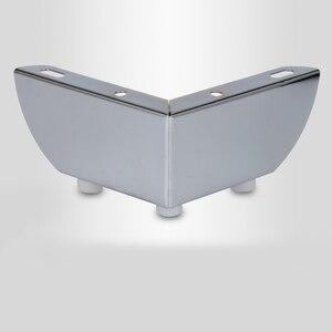 Image 4 - 4pcs 금속 가구 다리 지원 광장 테이블 소파 피트 캐비닛 머리 핀 다리 가구 발 수준 하드웨어 액세서리