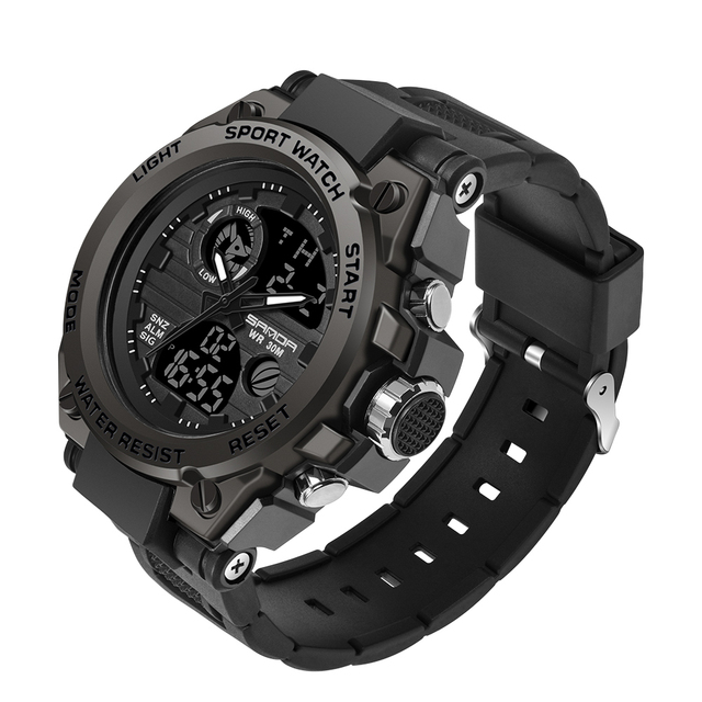 SANDA Military Quartz Shock Watch  3