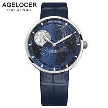 Часы agelocer swiss женские часы moonphase водонепроницаемые