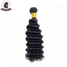Liddy Short Hair Bundles Deep Wave Hair Bundles Brazilian Hair Weave Bundles 100% Human Hair Bundles Natural Color Non-remy jessenia human hair bundles brazilian hair weave bundles brazilian hair deep wave curly 4 pcs 100% remy hair extensions