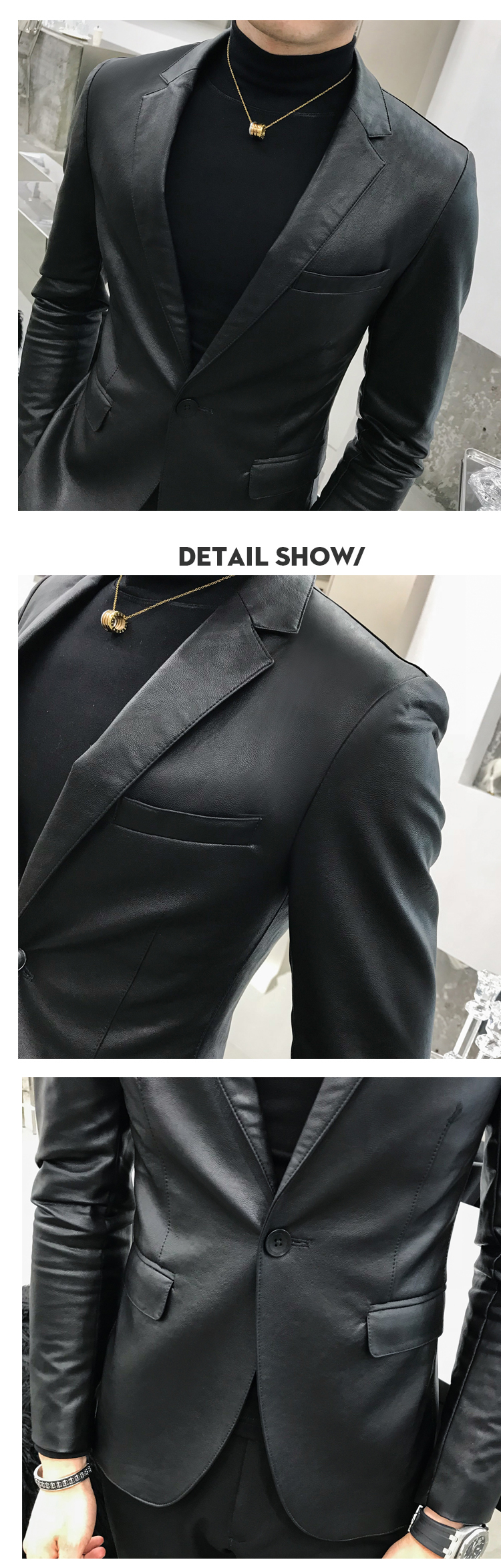 homens do blazer masculino preto masculino dos