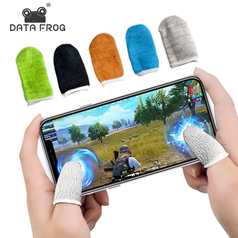 Data Frog Sweatproof Touch Screen Finger Gloves For Mobile Game Controller Moistureproof Finger Cots For PUBG Phone Gaming