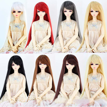 short bobo wig for bjd dolls 1 8 1 6 doll wig synthetic fiber doll wig high quanlity free shipping BJD sd 1/3 1/4 1/6 1/8 doll wig male and female dolls high temperature fiber long straight inclined bangs doll hair accessories