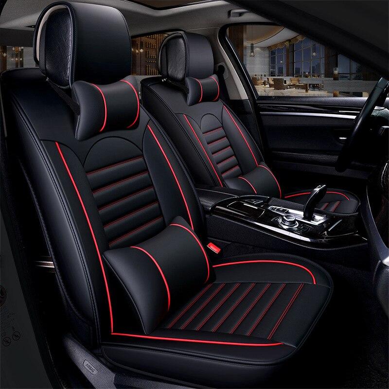 Универсальные кожаные чехлы Kalaisike для автомобильных сидений для Hyundai всех моделей i30 ix25 ix35 solaris elantra townan accent azera lantra