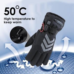 Image 4 - Winter Handwarmer Elektrische Thermische Handschoenen Oplaadbare Batterij Verwarmde Handschoenen Fietsen Motorcycle Fiets Ski Handschoenen